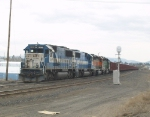 EMDX SD-60s 9046 and 9004 With Two BNSF SD-40s About to Head North